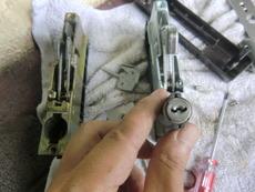 引き戸の鍵交換修理