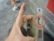 鍵が回らない修理画像